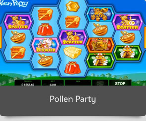 Golden slot pollen party