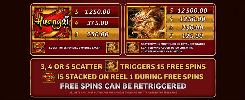 huangdi slot scatter free spin