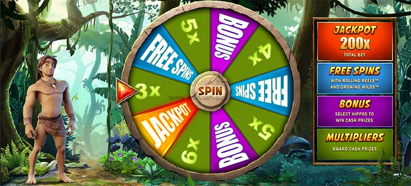 tarzan slot bonus wheel mode
