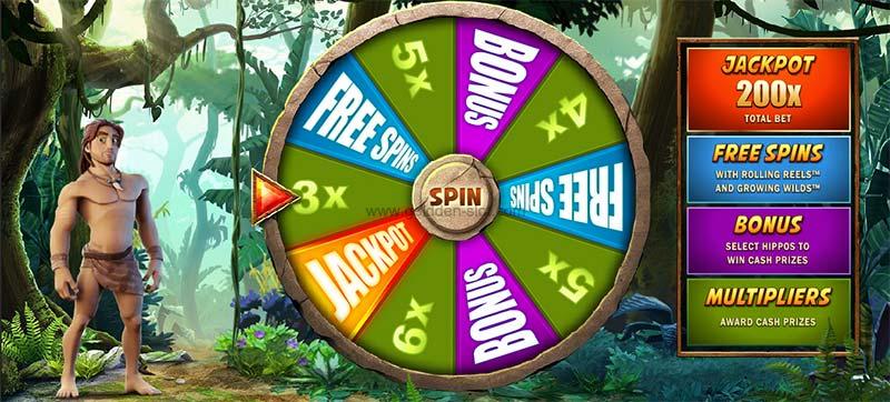 tarzan slot bonus wheel mode