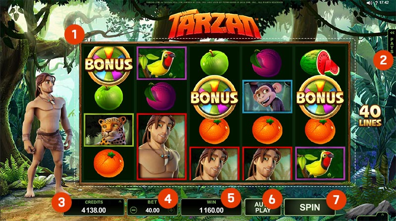 tarzan slot online game
