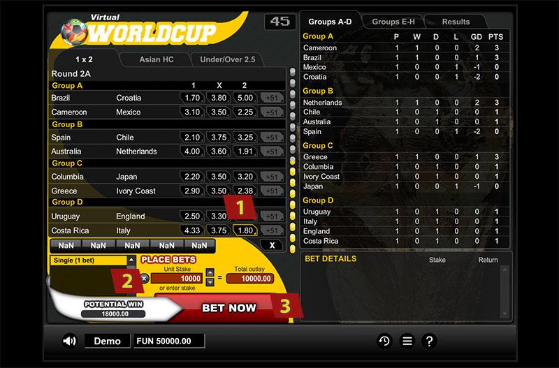 virtual socer worldcup online