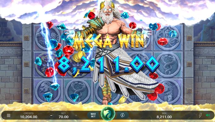 Zeus jackpot mega win