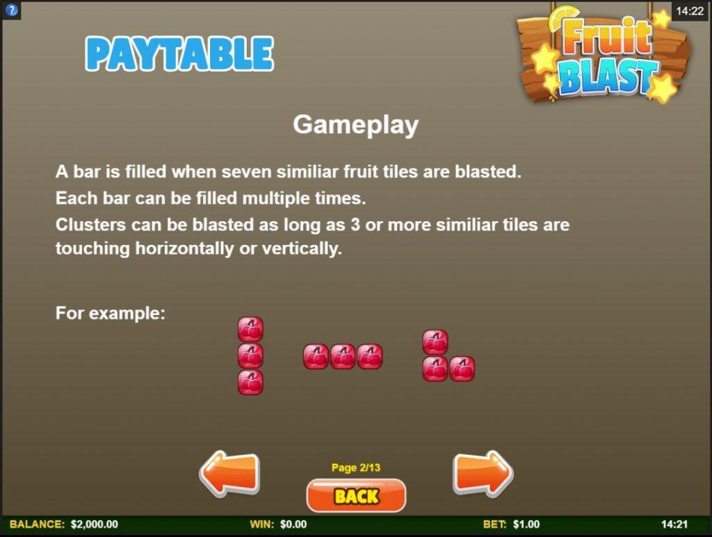 ตารางการจ่าย สล็อต Fruit Blast
