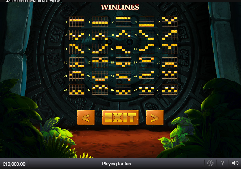 เพย์ไลน์เกม Aztec Expedition Thundershots