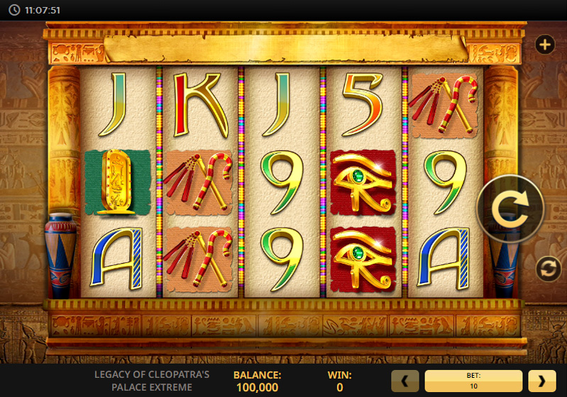 The Legacy Of Cleopatras Palace Extreme Slot