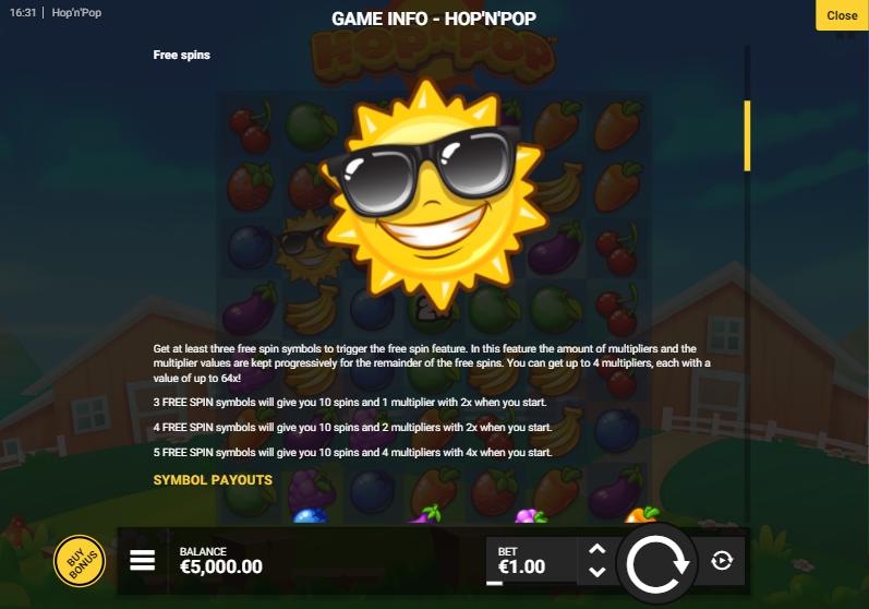 สัญลักษณ์เกม Hop N Pop